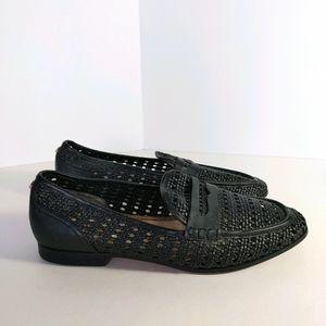Sam Edelman Leora loafer black Woven flats